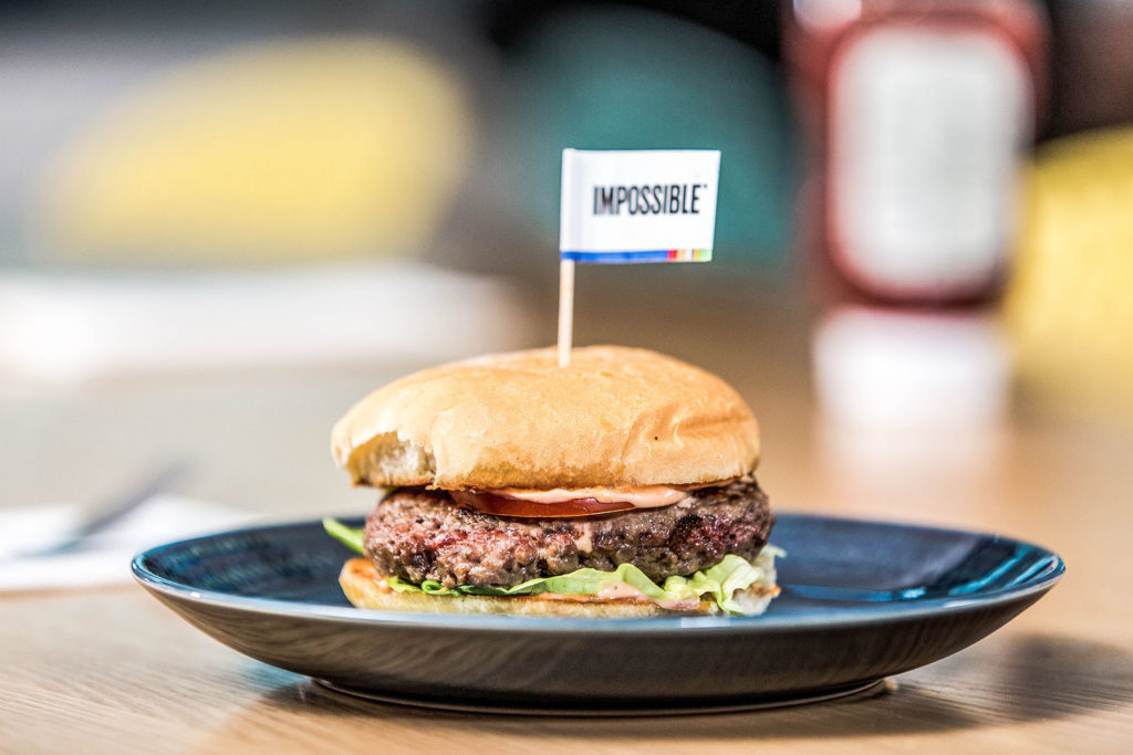 Impossible Foods vegan burger test
