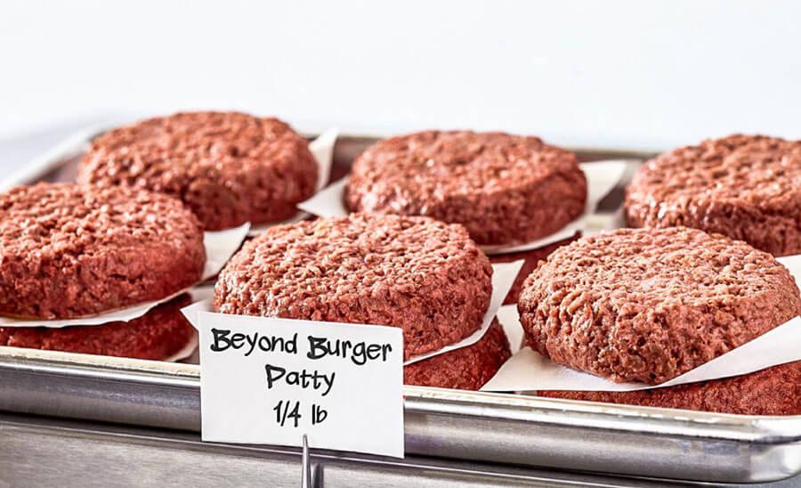 Beyond Meat Patty im Rohzustand