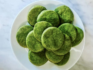 Matcha Cookies green food