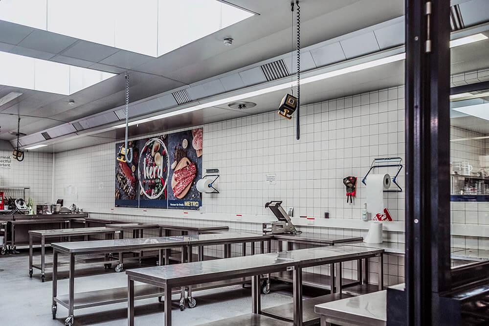 Großküche Coworking der Herd-Open-Kitchen