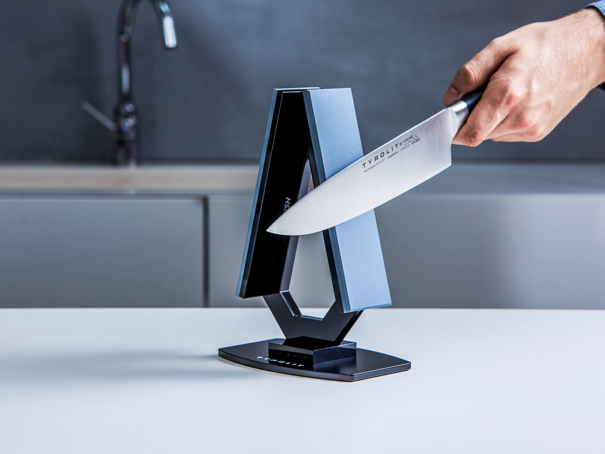 Sharp knives chefs care restaurant kitchen