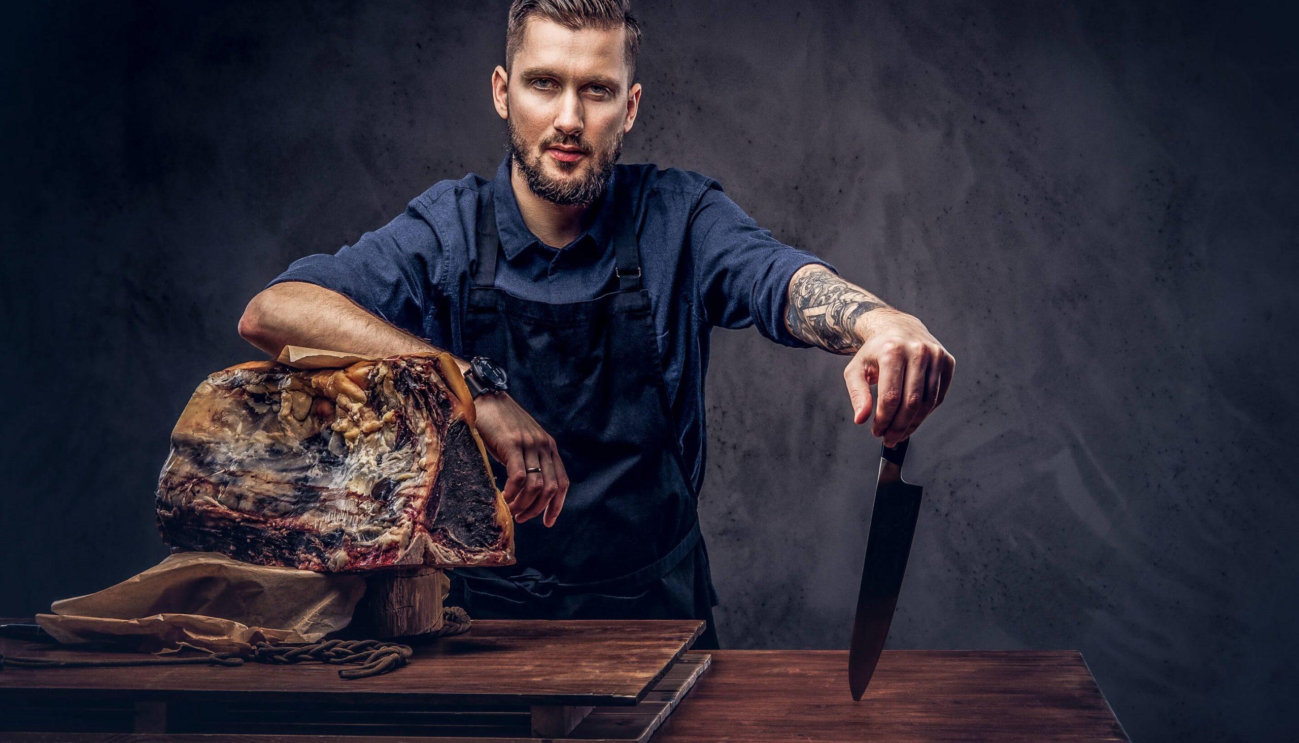 How to cut Rind, Huhn, Lamm und Schweine Fleisch