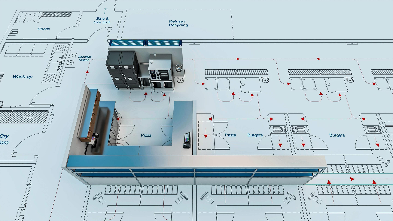 virtual Kitchen Ghost kitchen operation