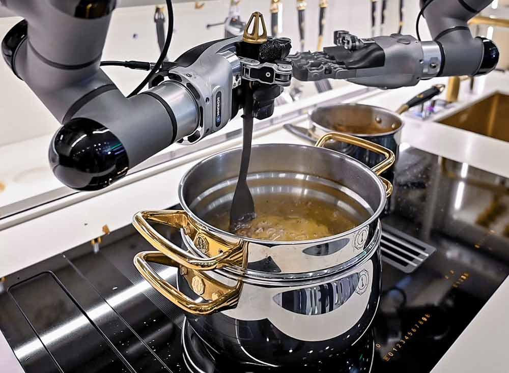 Robot kitchen smart kitchen