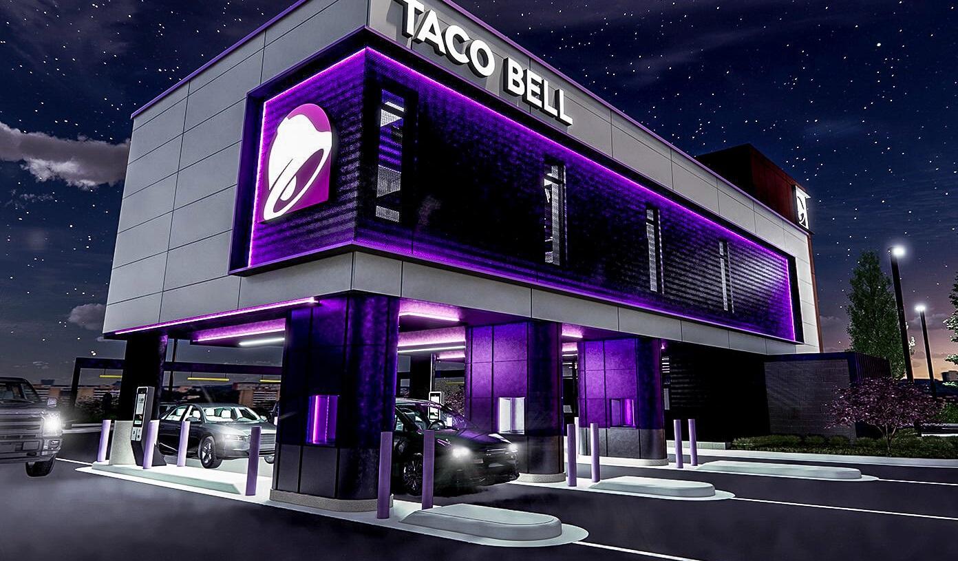 Wie viele Drive-thru Schalter haben die neuen Taco-Bell Restaurants?