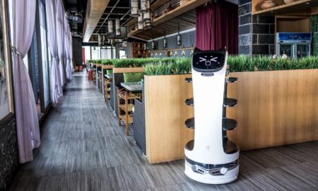What are the arguments in favor of using robots in the catering industry?
